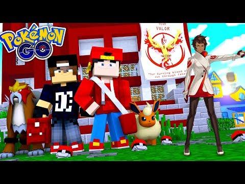 Minecraft POKEMON GO - ROPO & JACK JOIN TEAM VALOR!!!