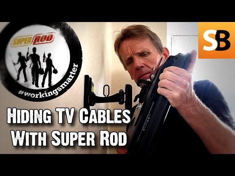 how to hide tv wires code compliant tv wiring doovi. Black Bedroom Furniture Sets. Home Design Ideas