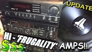 EXO's Hi-Frugality Amplifier Setup & Awesome Car Audio FIND w/ Ported JL POWER Wegde Subwoofer Box!
