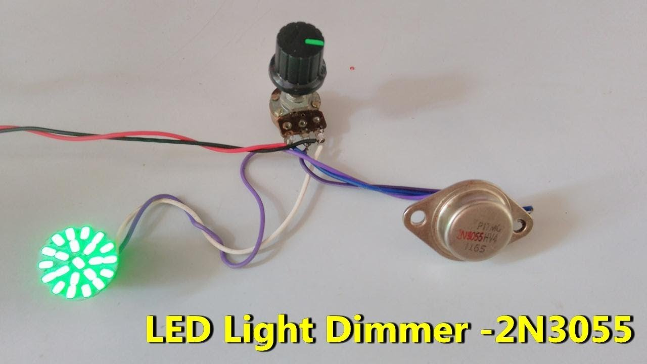 Led Light Dimmer Controller Using 2n3055 Npn Transistor Less Automatic Circuit Electronic Projects Circuits Low Cost