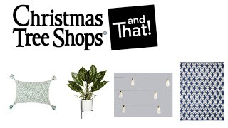SHOP WITH ME || THE CHRISTMAS TREE SHOPS || OUTDOOR DECOR