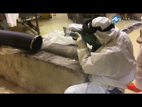 LaserBlast Cleaning System - Decontamination of Concrete