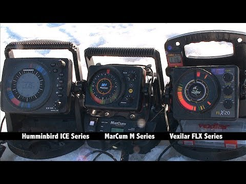 Humminbird Vs. MarCum Vs. Vexilar - Flasher Screen Brightness