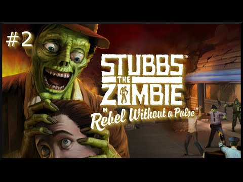 Stubbs the Zombie in Rebel Without a Pulse: Level 2 - Bleeding Ground |
