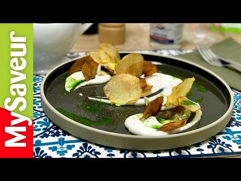 mille-feuille-de-brandade,-fondue-de-poireaux-et-chips-de-pommes-(petits-plats-de-marques)