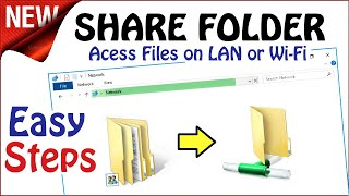Share Folder in Windows 10 \ 8 \ 7 | Network File Access Sharing in 4 Steps screenshot 2
