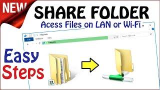 Share Folder in Windows 10 \ 8 \ 7 | Network File Access Sharing in 4 Steps screenshot 1