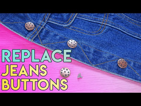 How To Change Jeans Buttons On A Denim Jacket