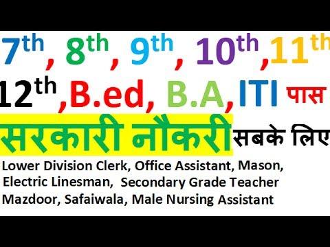 7th/8th/9th/10th/11th/12th/B.Ed./Graduates/ITI Latest Govt. Job For All    Teacher     Jobs