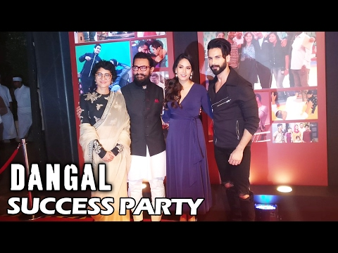 Shahid Kapoor With Wife Mira At Aamir Khan's DANGAL Success Party