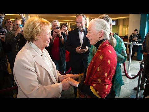 Jane Goodall in Iceland, introduction by Vigdis Finnbogadottir