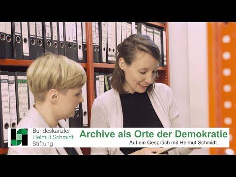 Das Archiv als Ort der Demokratie | Auf ein Gespräch mit Helmut Schmidt
