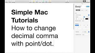 Excel language change mac  How to change Decimal Comma to