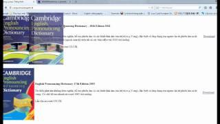[Part1]Hướng dẫn cài đặt và sử dụng Cambridge Pronouncing Dictionary - Đánh vần tiếng anh