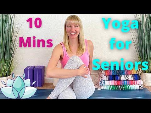 Yoga for Seniors - 10 Minute Yoga for Seniors - Gentle Yoga for Seniors - Senior Yoga