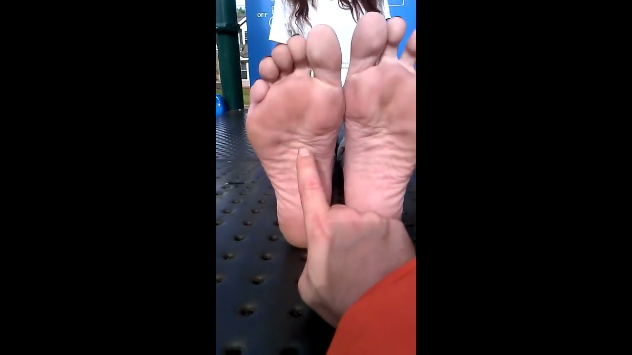 Feet female mature tickle