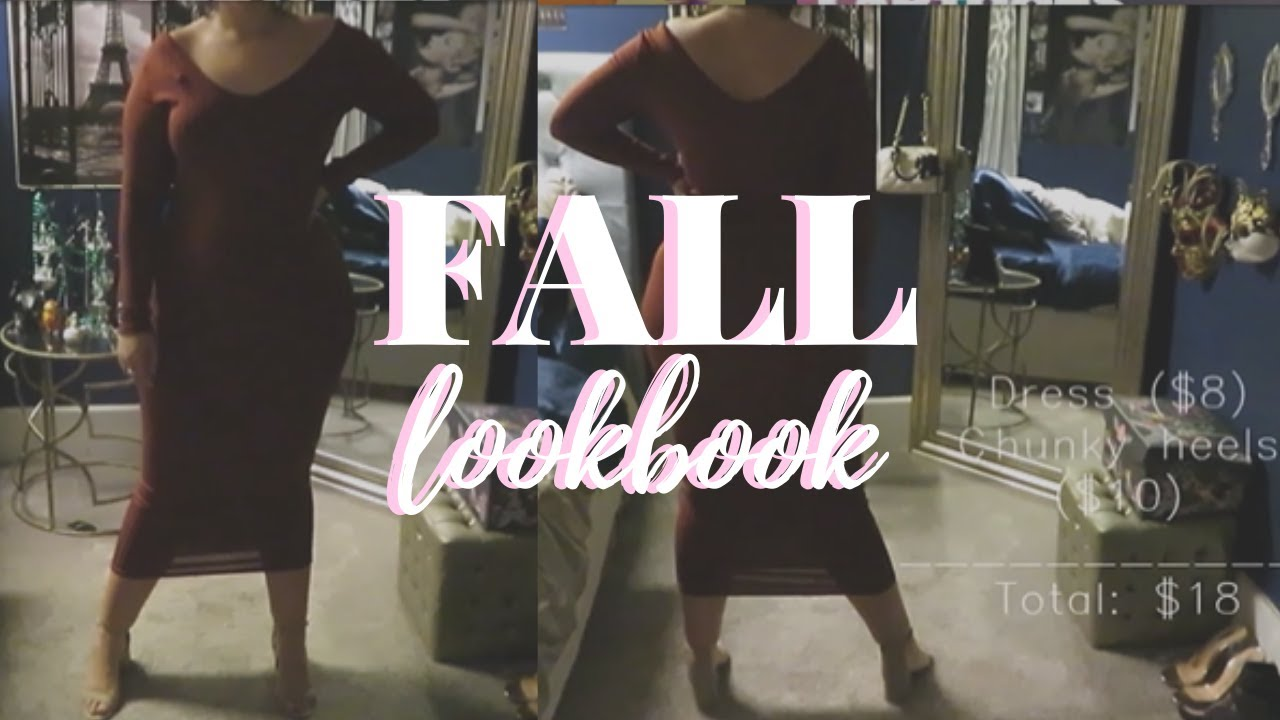 [VIDEO] - FALL  LOOKBOOK 2019 | 7 Affordable Fall Outfits | Aly Transformations ♥ 3