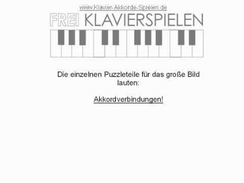 Klavier-Akkorde-spielen