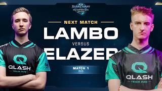 Lambo vs Elazer ZvZ - Match 1 Finals - WCS Winter Europe