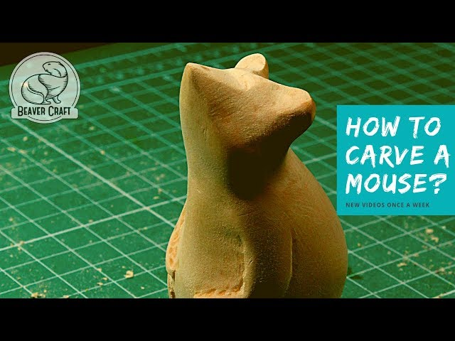 How to Carve a Mouse out of Wood? 🐭 | Easy Wood Carving for Beginners