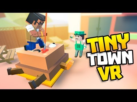 SECRET BURGER ISLAND GETS INVADED! - Tiny Town VR Gameplay Part 32 - VR HTC Vive Gameplay Tiny Town