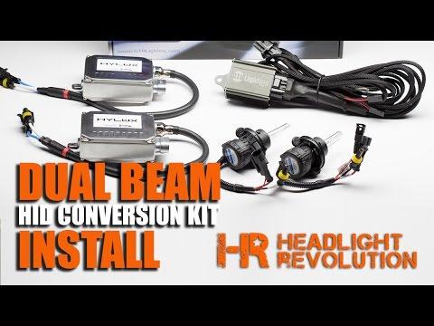 How to Install a Dual Beam HID Headlights / Bi-Xenon HID Conversion Xenon Hid Headlight Kit Wiring Diagram on
