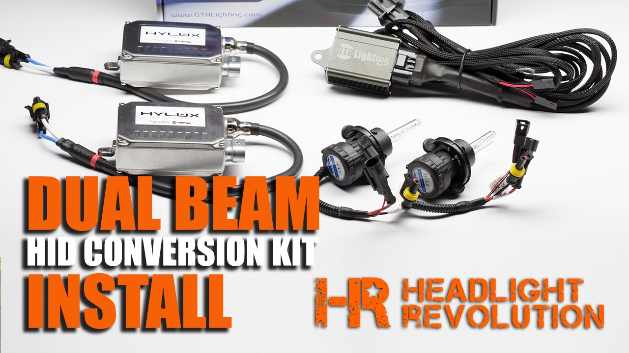 how to install a dual beam hid headlights bi xenon hid conversion kit relay harness youtube [ 1280 x 720 Pixel ]