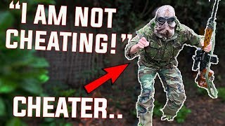 Airsoft Cheaters vs Ghillie Sniper Gameplay (covert)