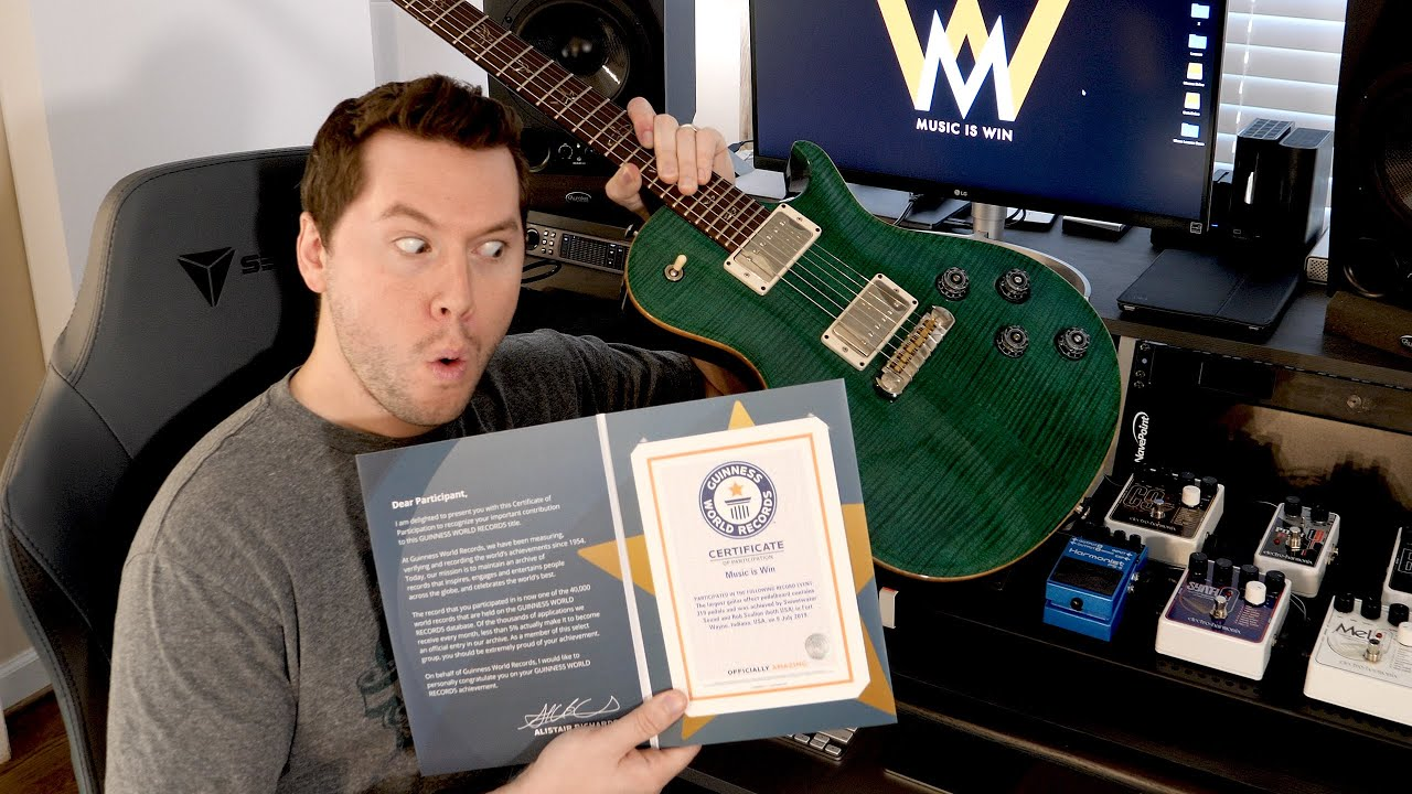 My Piece of a Guitar WORLD RECORD – learn how to play