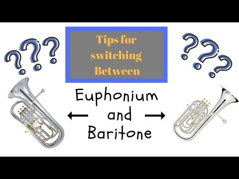 Tips for switching to Baritone from Euphonium