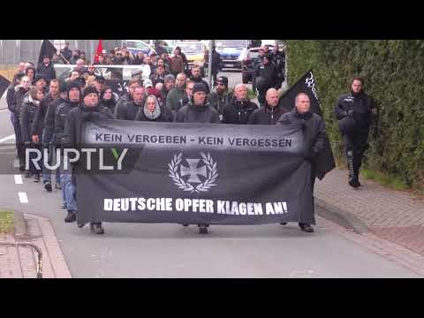 Germany: Police push back counter-protesters at neo-Nazi march