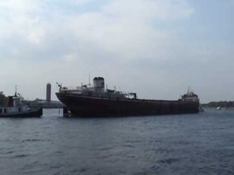 L. E. Block Great Lakes Steamer Scrap Tow