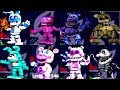 SECRET ANIMATRONICS in Fnaf World Mod! || FNAF Characters (Final Boss)