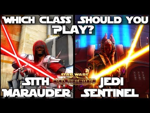 """""""Which Class Should You Play?"""" - Sith Marauder / Jedi Sentinel    Star Wars: The Old Republic"""