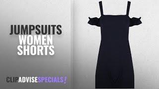 Top 10 Jumpsuits Women Shorts [2018]: Be Jealous Womens Ladies Plain Cold Cut Shoulder Bardot