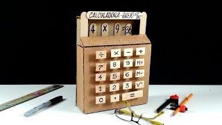Calculadora de cartón que si funciona!