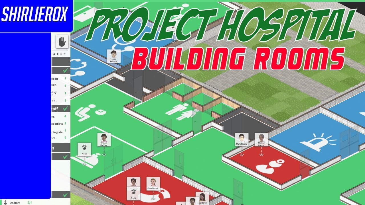 Project hospital game - Room planning - Project hospital room building