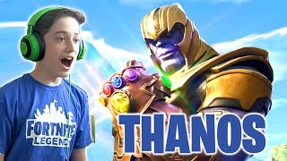 THANOS IN FORTNITE!!!  **NEW** Infinity Gauntlet Gameplay