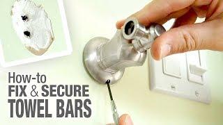 How to Repair & Hang a Loose Towel Bar Holder