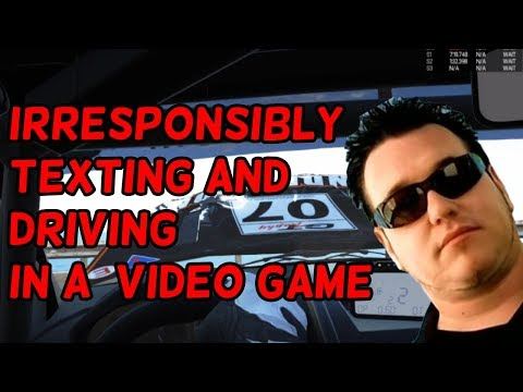 Irresponsibly Attempting to Text and Drive in a Video Game | Project Cars |