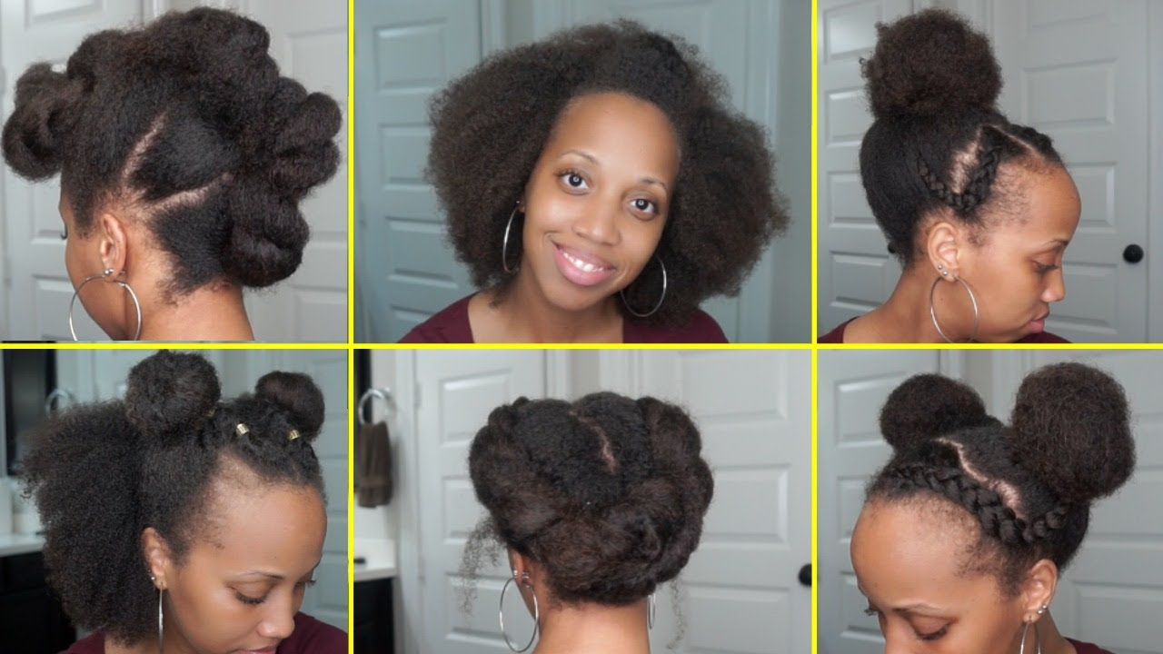 13 Easy 5 Minute Hairstyles For Natural Hair Youtube