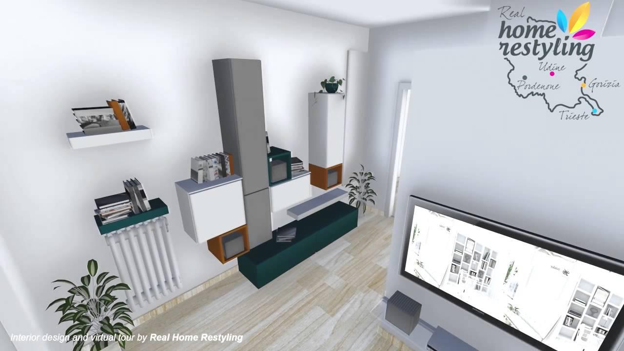 Real home restyling ristrutturazione appartamento for Casa moderna 60 mq
