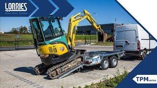 Przyczepa do transportu pojazdów i maszyn LORRIES - seria TPM - podczas pracy