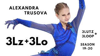 Alexandra Trusova 3Lz3Lo Александра Трусова Season 2019 20