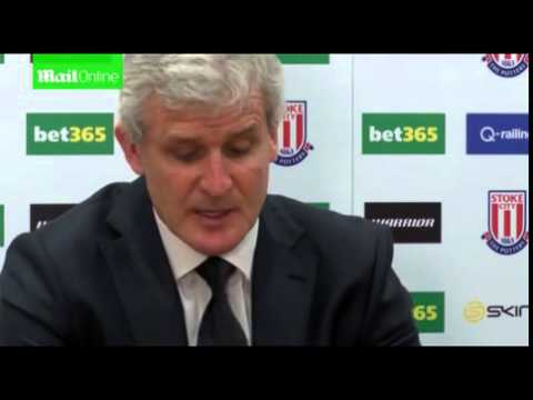 Mark Hughes gives a Stoke injury update...
