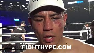 JESSIE VARGAS SECONDS AFTER FIGHTING ADRIEN BRONER TO A DRAW; REACTS TO OUTCOME
