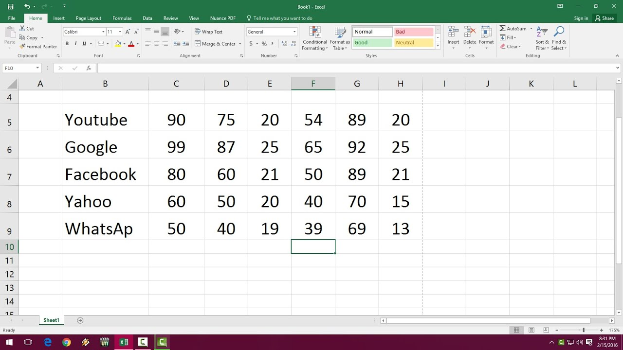 Ms Excel Shortcut Key For Text Alignments Left Right Center Top Bottom