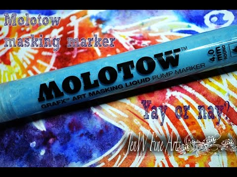 Reviewing Molotow masking fluid marker