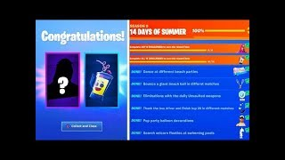 "These will be ALL Free REWARDS of the ""14 Days of Summer"" Event in Fortnite!"