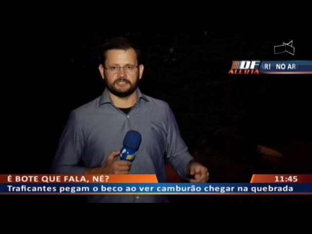 DF ALERTA - Forças de segurança fazem limpas de combate ao tráfico de drogas